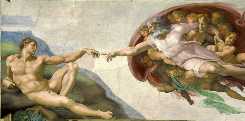 Crop Creation-of-Adam -Michelangelo -Sistine-Chape.-Public-Domain
